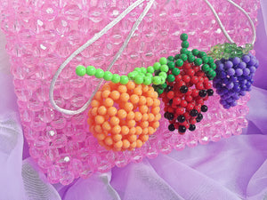 Fruit Beaded Handbag Mini Beaded Purse-Handbags & Purses - MILANBLOCKS