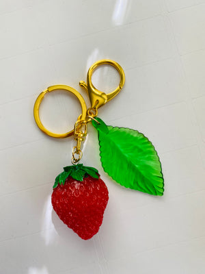 strawberry keychain