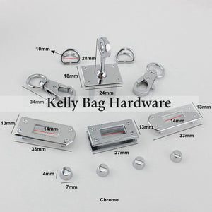 Gray A SET OF All,Handbag Purse Bag Spring Hooks,Metal shoulder strap buckle, Link buckle, Handbag Snap,Full set of Kelly bag hardware and pattern
