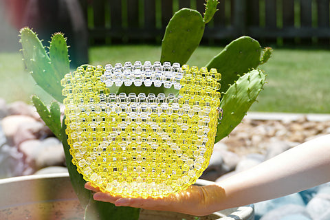 Lemon Ark Bamboo Style Handbag Beaded Box Clutch Bag-Handbags & Purses - MILANBLOCKS