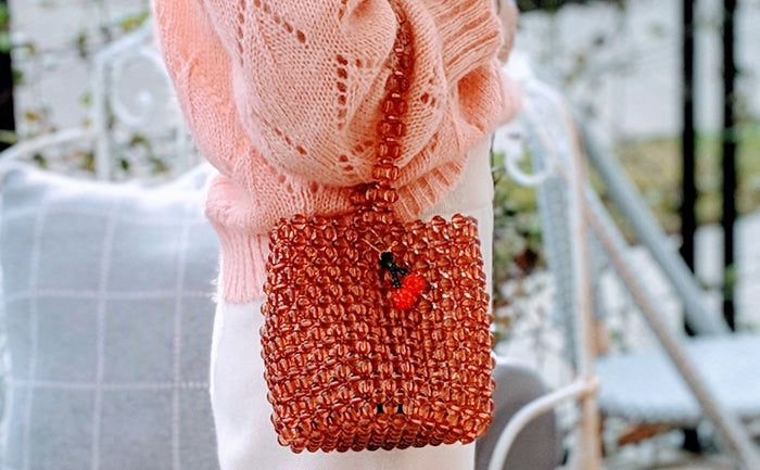 Mini Beaded Bucket Bag