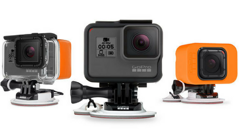 go pro attached to surf board mounts