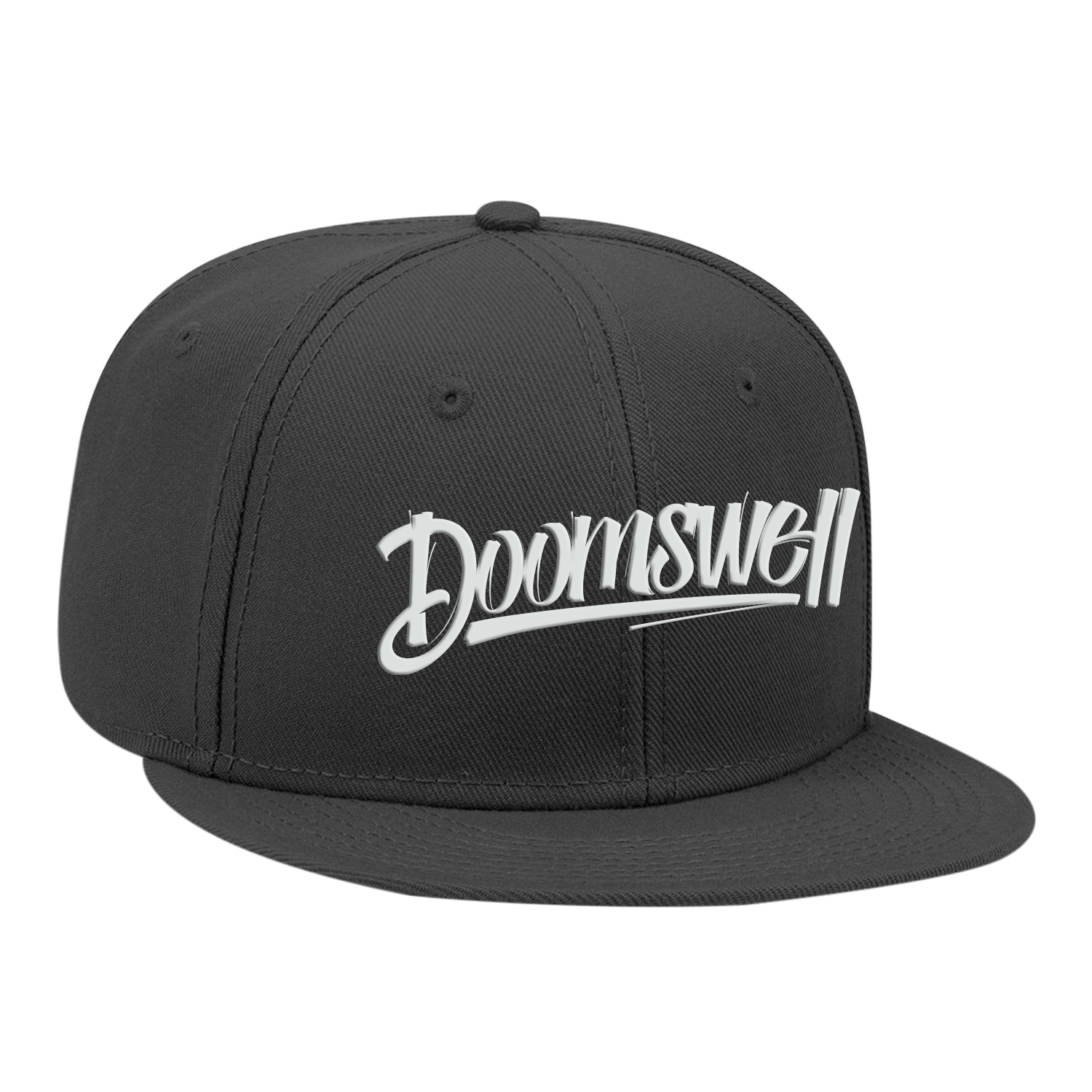 Doomswell Boarding Co. Hats Black Script Hat-Black