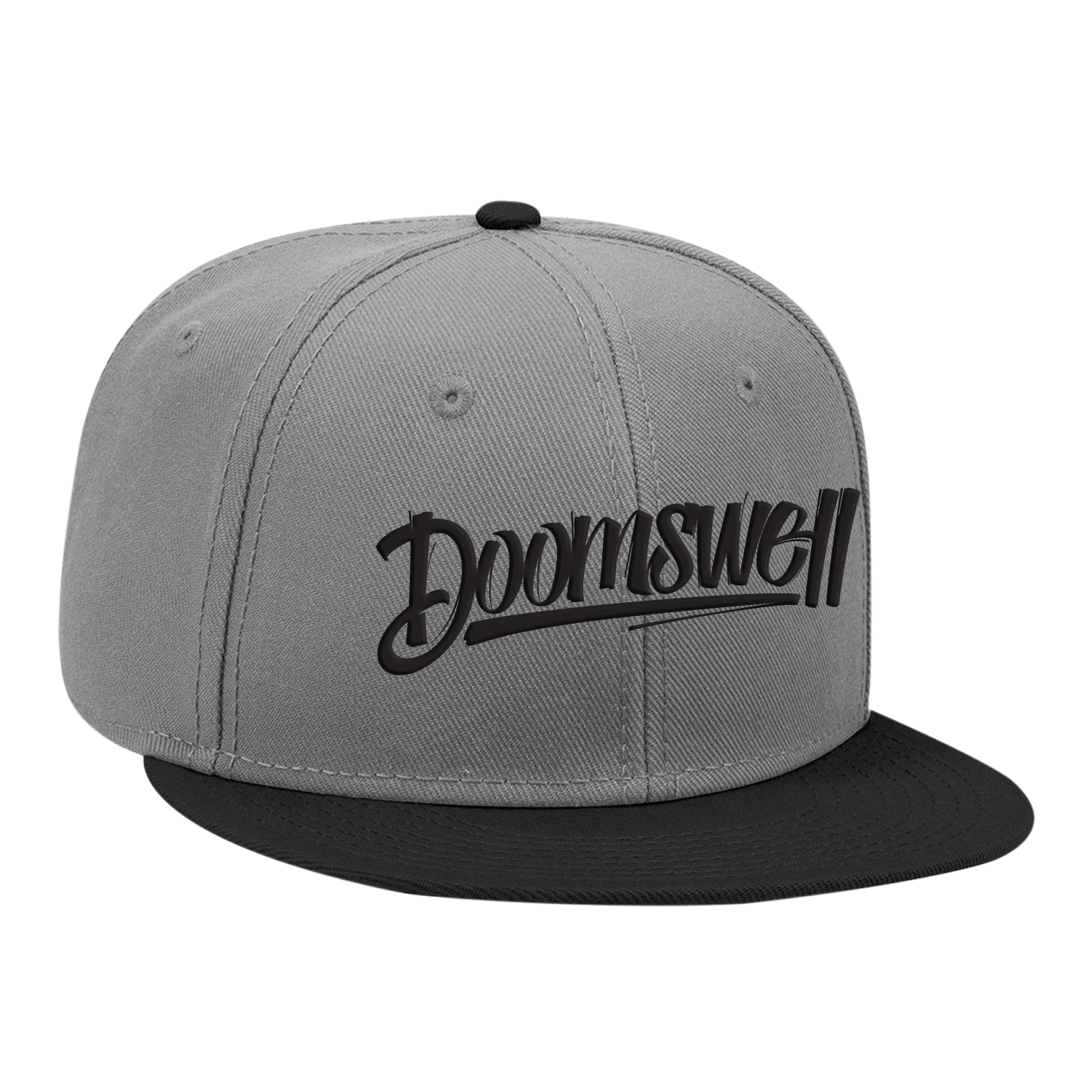 Doomswell Boarding Co. Hats Grey Script Hat-Grey
