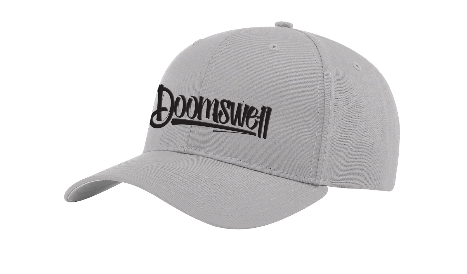 Doomswell Boarding Co. Hats Grey Script Hat-Low Profile Grey