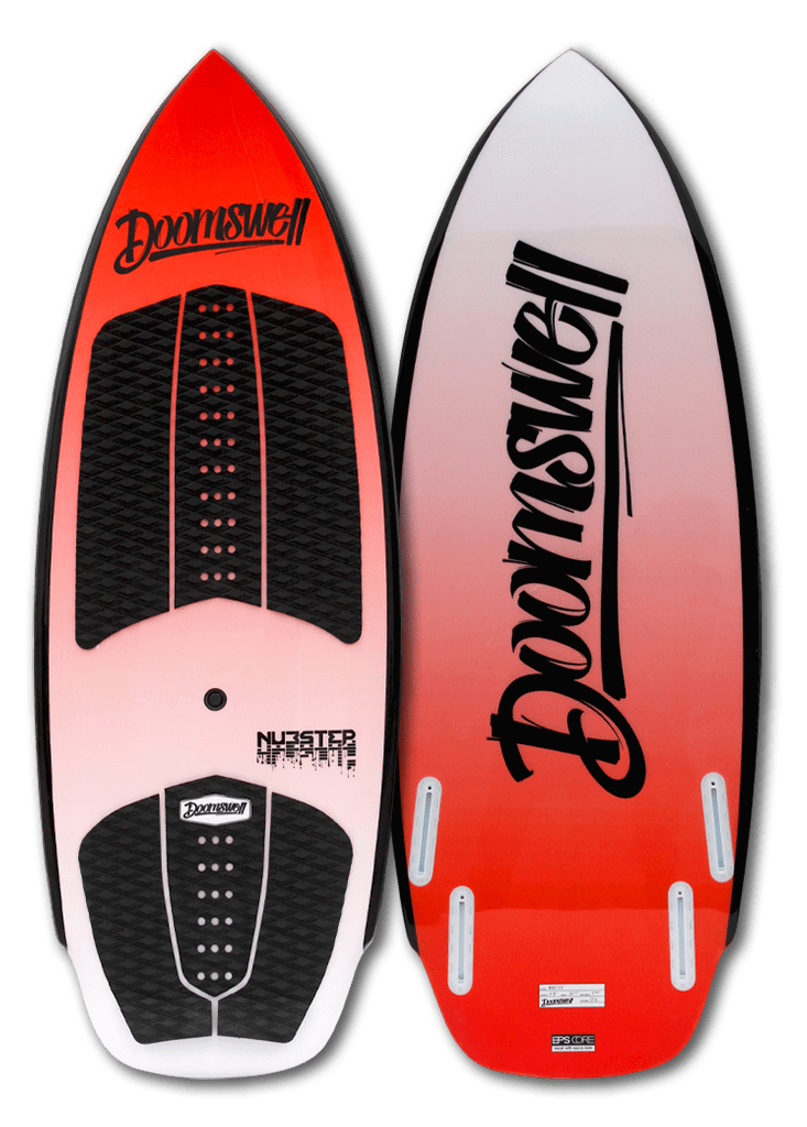 "Doomswell Wakesurf 4'-6"" Nubstep - Red"