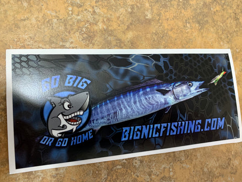 3 m bignicfishing wahoo decal