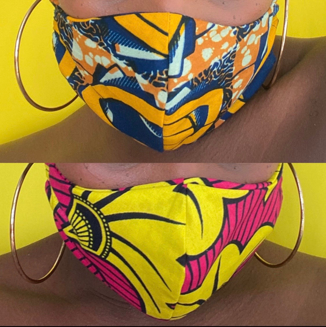 African Print Face Mask/Matching Head Tie