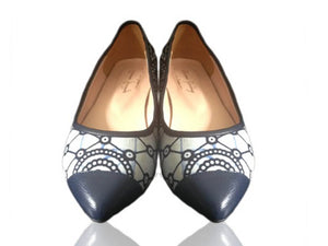 La Parisienne- African Print flat shoes