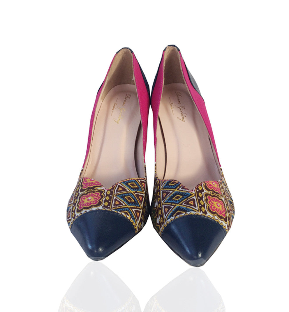 Celine- African Print Shoes