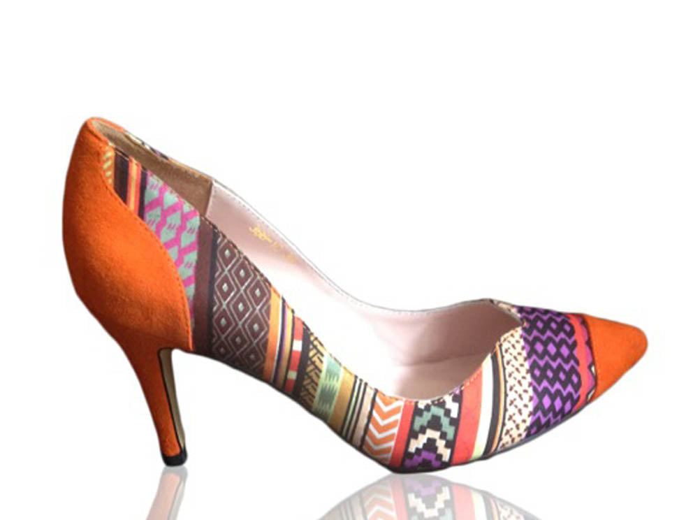 Clementine- Aztec Print Shoes
