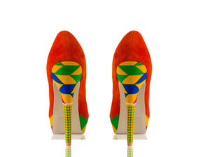 Kia - Kente Print Platform Shoes