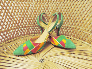 Aureila - Kente Print Shoes