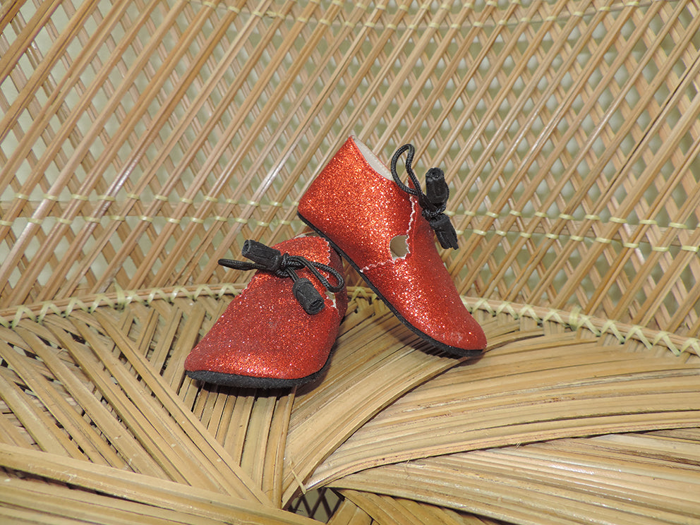 Red Glitter Booties