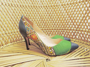 Janet - African Print Shoes