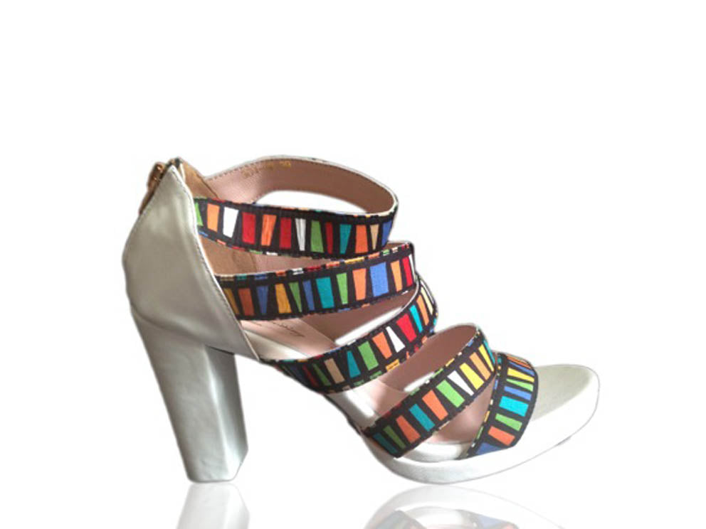 French Cancan - Printed Sandals