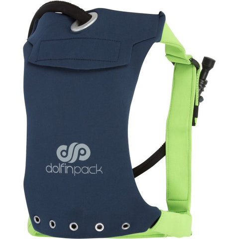 DolfinPack Lightweight Hydration Pack Navy / Lime Green
