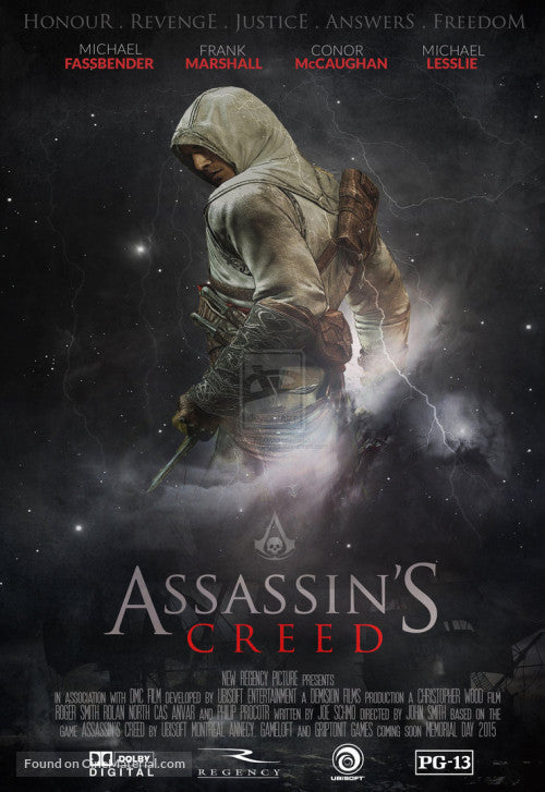 Assassin's Creed Movie in theaters 12-12-16