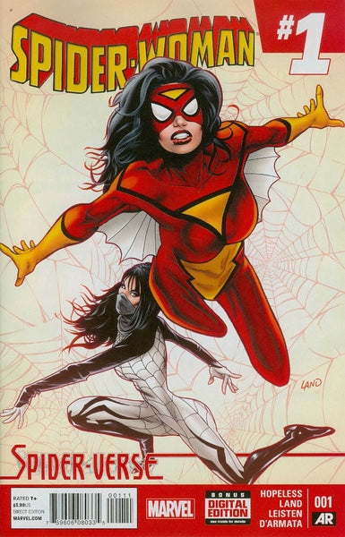 Spider-Woman Vol 5 #1 Cover A 1st Ptg Regular Greg Land Cover (Spider-Verse Tie-In)   Back Stock !!!