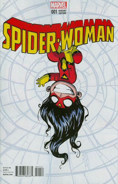 Spider-Woman Vol 5 #1 Cover B Variant Skottie Young Baby Cover (Spider-Verse Tie-In)   *  Back Stock *