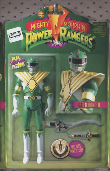 Mighty Morphin Power Rangers  #1 Cover B Variant David Ryan Robinson Action Figure Cover   !!!!