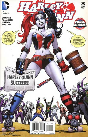 Harley Quinn Vol 2 # 25 Cover B Neal Adams Variant Cover  *NM*    Sold Out !!!!