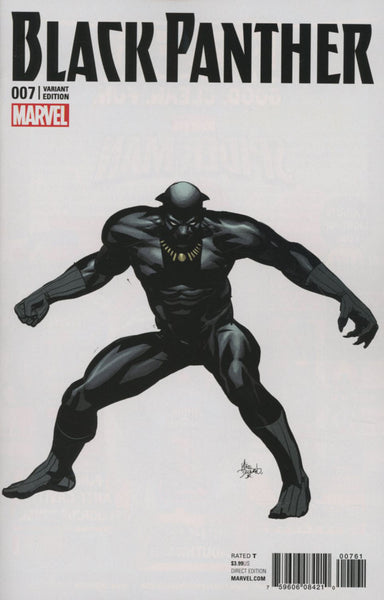 Black Panther Vol 6 #7 Cover E Incentive Mike Deodato Jr Teaser Variant Cover (Marvel Now Tie-In)  * NM* !!!!