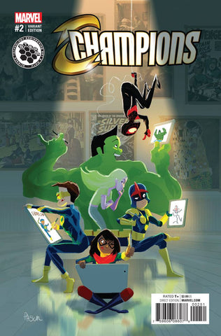 Champions (Marvel) Vol 2 #2 Cover E Incentive Pascal Campion STEAM Variant Cover.  Pre-Order Coming Nov-02-16   *NM *