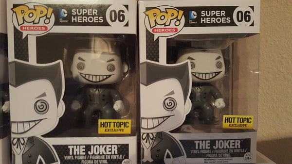 Hot Topic Exclusive Black And White Joker Mystery Funko Pop Black Friday Special !!!