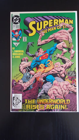 Superman: Man Of Steel #17  First Appearance Of Doomsday VF-NM   Movie !!!!