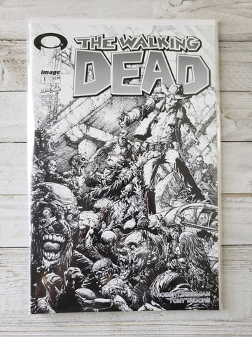 THE WALKING DEAD #1: 15TH Anniversary Blind Unbagged B&W Sketch Finch Variant *NM* !!!!
