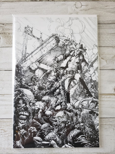 THE WALKING DEAD #1: 15TH Anniversary Blind Unbagged B&W Virgin Sketch Finch Variant *NM* !!!