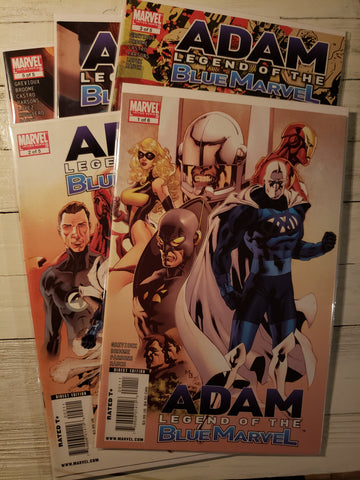 Adam Legend of the Blue Marvel  # 1-5 lot set VF/NM. Rare..