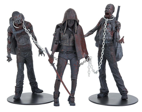 The Walking Dead TV (Bloody Black & White) Michonne & Pet Zombies 3-Pack In Stock  NIB !!!!