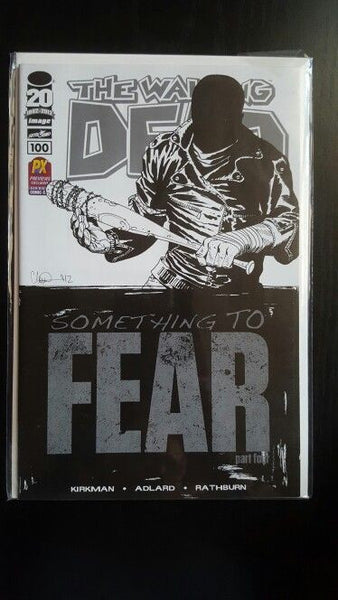 The Walking Dead # 100  1st  PTG  * NM * SDCC SKETCH  DEATH OF GLENN ! 1st NEGAN !!!!