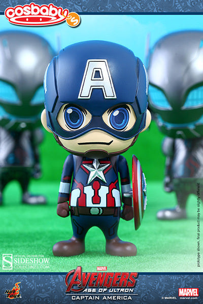 Captain America Vinyl Collectiblels Figure By Hot Toys / Avenger Age Of Ultron Cosbaby Series 1   Sold Out !!