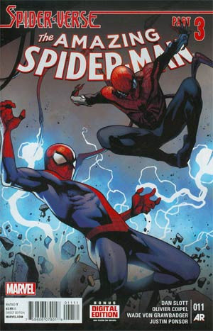Amazing Spider-Man  # 11 Coipel Cover  NM .