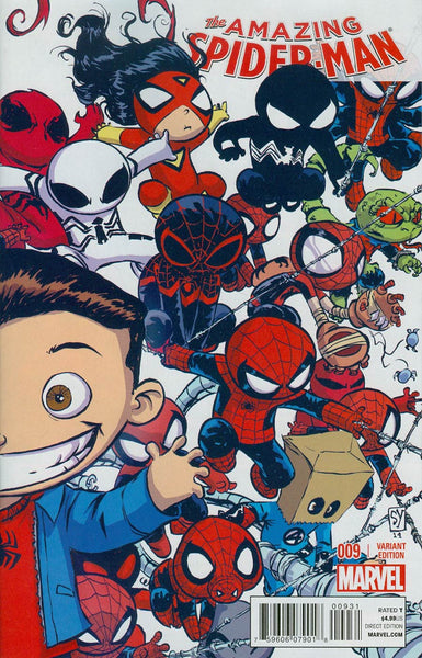 Amazing Spider-Man Vol 3 #9 Cover B Variant Skottie Young Interlocking Baby Cover