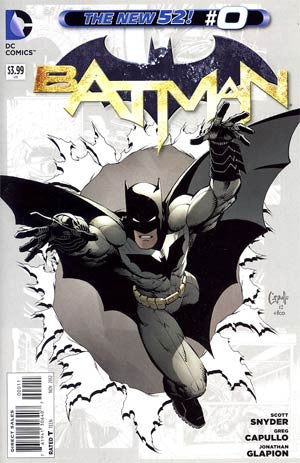 Batman Vol 2 #0 Regular Greg Capullo Cover New 52   (2012)  NM  Movie Coming In 2016