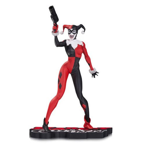 DC Comics Harley Quinn by Jim Lee Red Black and White Statue.  Coming in April  2017