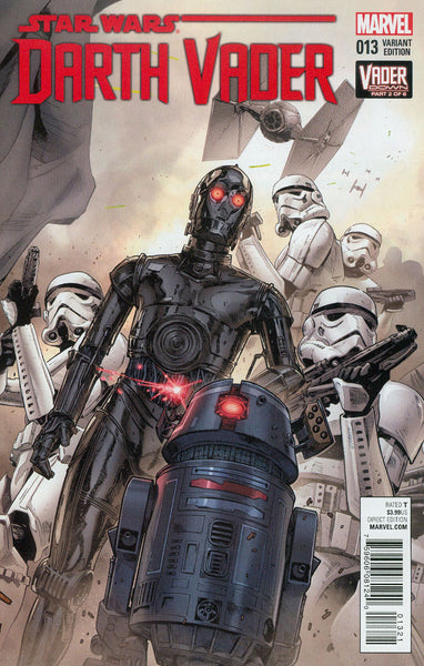 Darth Vader #13 Cover B Variant Connecting B Cover (Vader Down Part 2) Cover 1st Ptg  NM  !!!