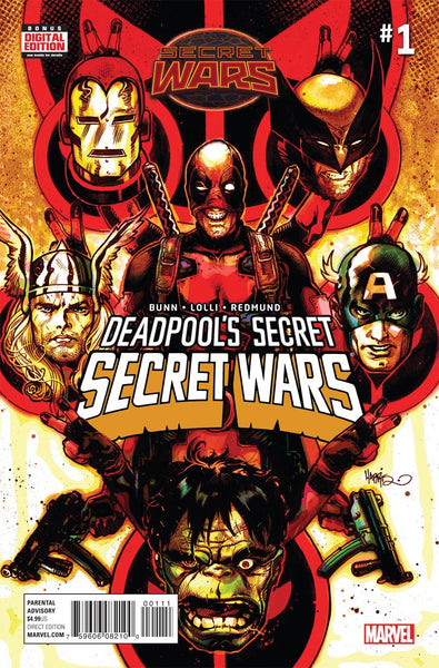 Deadpools Secret Secret Wars #1 Regular Cover - 2015 #1 1ST PTG  NM  IN Stock !!!!!