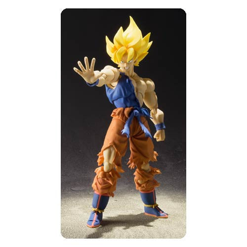 Dragon Ball Z Super Saiyan Goku Super Warrior Awakening SH Figuarts Action Figure !!!