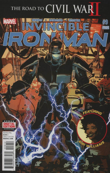 Invincible Iron Man Vol 2 #9 Deodato Variant Cover (Road To Civil War II Tie-In   (2nd Printing) * NM  *