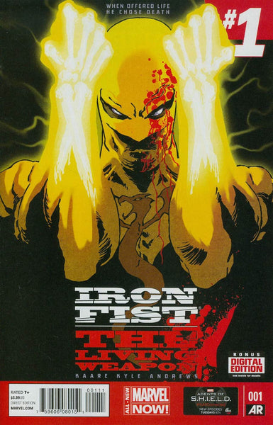 Iron Fist #1 Cover by Kaare First Print Cover  *  NM   *