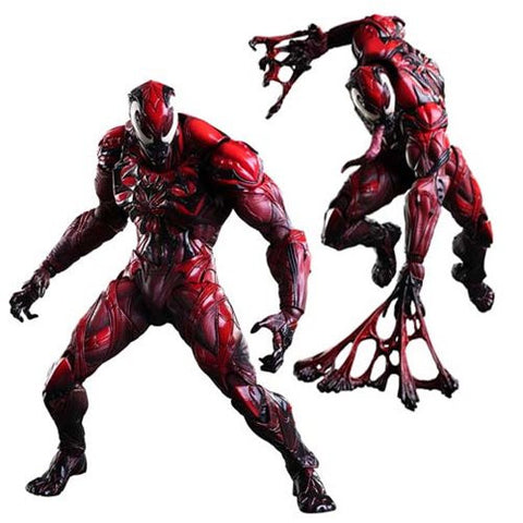 Marvel Universe Venom Red Variant Play Arts Kai Action Figure * NIB * Out Of Stock