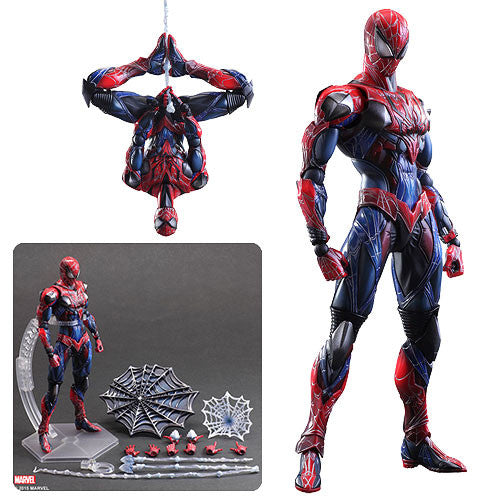 Square Enix Marvel  Universe Spider-man Variant Play Arts Kai- Action Figures 10 -Inch .