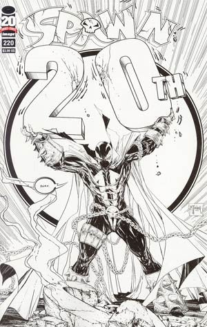 Spawn #220 Cover F Incentive Todd McFarlane Sketch Cover  *NM*  (2012)  Sold !!!!!