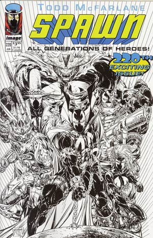 Spawn # 220 Cover E Youngblood Homage Sketch Cover  *NM*  (2012)
