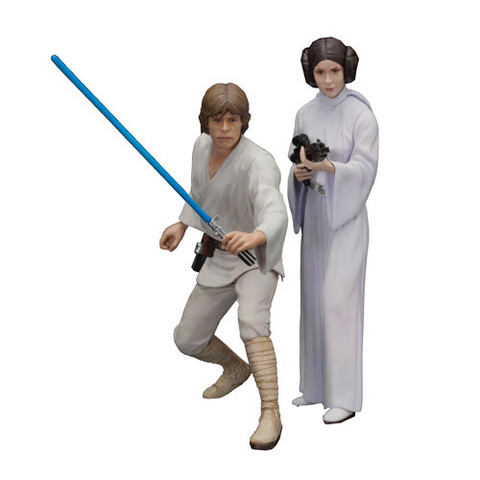 Star Wars Luke Skywalker and Princess Leia ArtFX+ Statue - *In Stock* !!!!